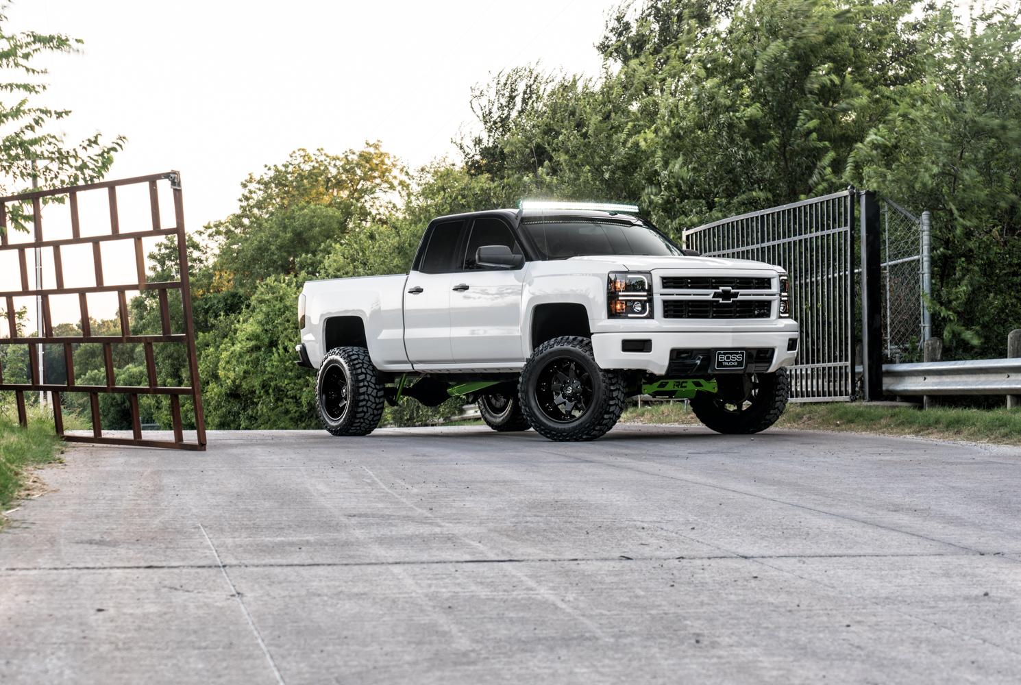 Inventory White Lifted Chevy Silverado 2014 Chevrolet 1500